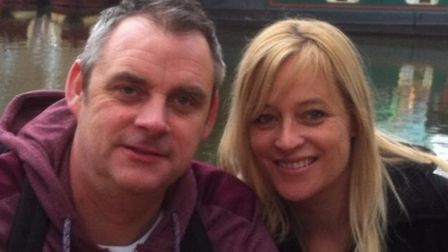 Simon Dobbin with his wife Nicole Picture: SUPPLIED BY FAMILY