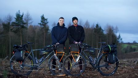 Roo Clark and James Cotton will be cycling 8,000 miles in aid of four charities, including the Charl