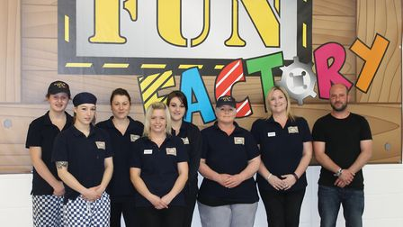 The team at Carlton Fun Factory following the storm.