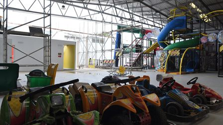 The Carlton Fun Factory Sustained a lot of damage as result of Storm David. Picture CONTRIBUTED