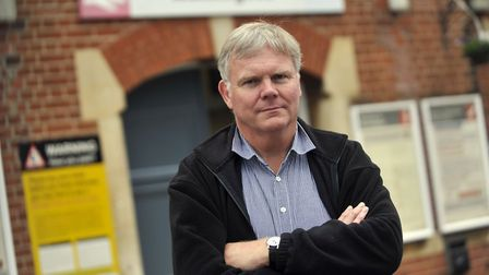 Derek Monnery is upset over car parking charges at Greater Anglia stations, including Ipswich, Stowm