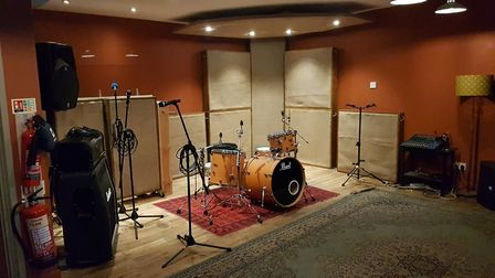 The recording space at the Smokehouse and Punch Studios, where the Smokehouse Live recordings can ta