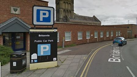 Britannia car park in Colchester where parking officers will ask motorists to take a survey Picture: