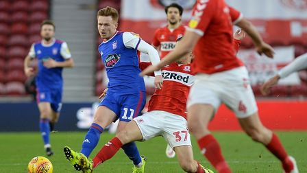 Jon Nolan's last Championship appearance was at Middlesbrough on December 29. Photo: Pagepix