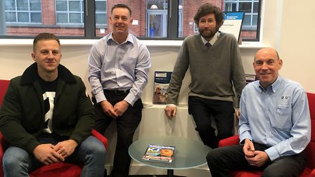Left to right: Luke Hillyard, Mike Bacon, Carl Marston and Andy Crisp on the latest non-league podca
