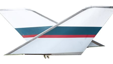 A pair of Cathay Pacific 747 aeroplane wing tips sold for �6,100. Picture: Stephen Baker
