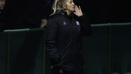 Dickinson took charge of her last game last night in the 3-0 defeat at Norwich in the East Anglian D