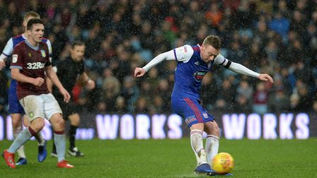 Freddie Sears scores with a long range strike at Villa Park Picture Pagepix