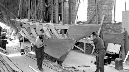 Boat building at Webbs yard in September 1963. Picture: IVAN SMITH