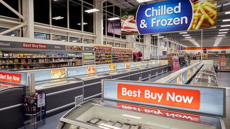 B&M stores launch and new frozen food department at their Edge Lane store in Liverpool