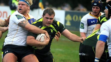 Bury St Edmunds prop David Coutts, who will enjoy a recall to the starting line-up against Taunton T
