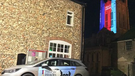 The illumination was part of the charity's 'Cut the Clock' campaign Picture: HELP FOR HEROES
