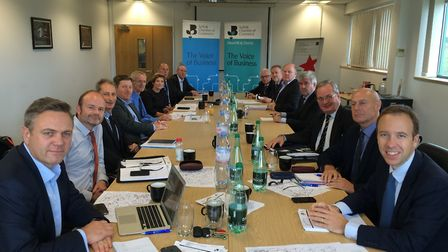 A meeting of the A1307 Strategy Board Picture: CONTRIBUTED