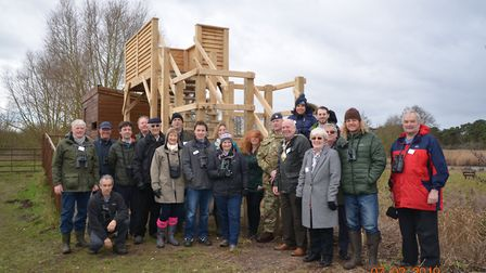 Opening ceremony of new viewing platform at BTO's Nunnery Lakes nature reserve Picture: BTO