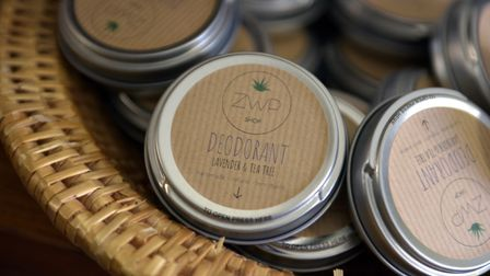 Natural deodorant comes in metal tins and cardboard tubes. Picture: SARAH LUCY BROWN