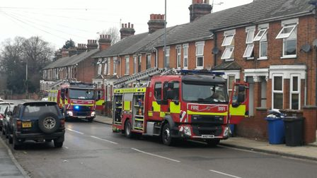 Crews were called to a kitchen fire in Back Hamlet in Ipswich PIcture: CONTRIBUTED