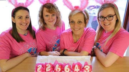 St Nicholas Hospice Care's fundraising team celebrate the Girls Night Out, which has raised a total