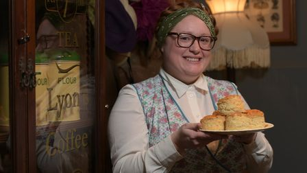 Hayley Hutchison with some fresh scones Picture: SARAH LUCY BROWN