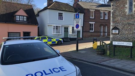 The Essex Police cordon around the murder scene grew as the investigation into the stabbing went on