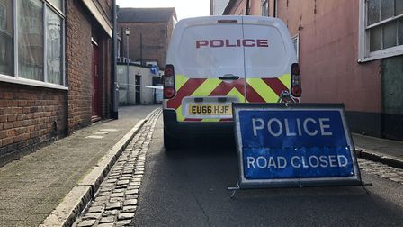 A stabbing in George Street overnight still had a police cordon in place - Essex Police are investig