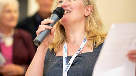 Penny Wilby at a Sudbury Business Expo event