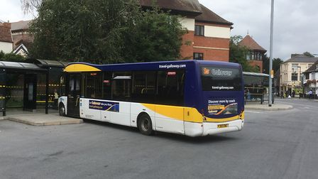 A Galloways bus at the Ipswich Bus Station. There are fears of cuts to the 113/114 service. Picture: