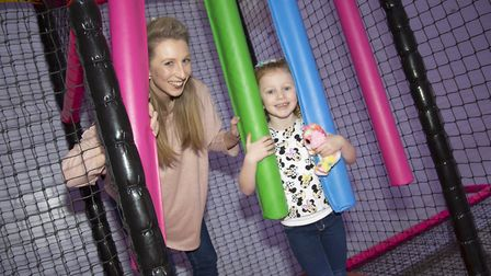 People enjoy the new play and climb at the leisure centre Picture: PHIL MORLEY