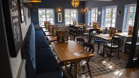 The new look Crown pub in Claydon. Picture: Greene King