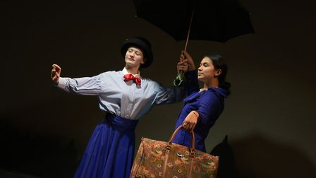 Grace Keneally and Abigail Kerry as Mary Poppins Picture: SARAH LUCY BROWN