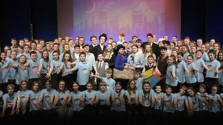 The cast of Thurston Community College production of Disney and Cameron Mackintosh's Mary Poppins Jr