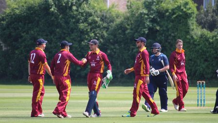 Suffolk captain Adam Mansfield, third left celebrating a wicket in last season's T20 competition, ha
