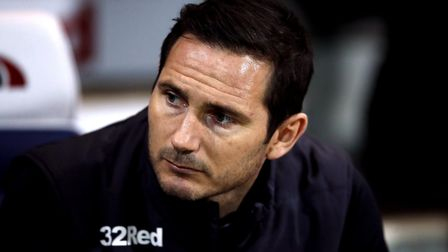 Derby County manager Frank Lampard was interviewed for the Ipswich Town job last summer. Photo: PA