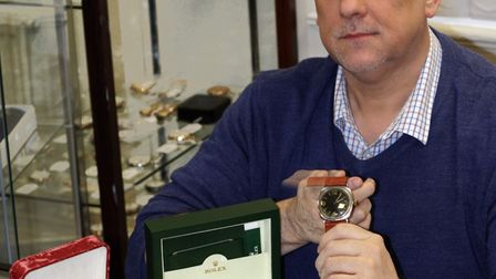 Lockdales� managing director Daniel Daley with the selection of watches set to sell this month Pictu