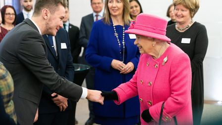 Sam Boone, from Ingleton Wood in Colchester met Her Majesty Queen Elizabeth He was one of a handful