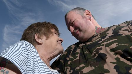 Sylvia Plumb and Colin Cowley are madly in love Picture: SARAH LUCY BROWN