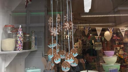 The biscuit chandelier inspired by Great British Bake Off