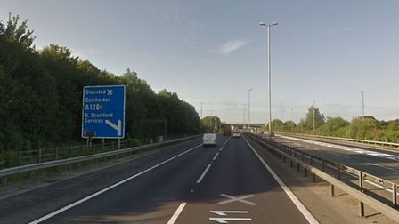 Police have attended two serious crashes on the M11 near Stansted Picture: GOOGLEMAPS