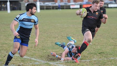 Colchester's Dan Brennan scored two tries in the win over Eton Mnaor. Picture: PICAXIS PHOTOGRAPHY