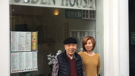Founder of Golden House Charles Chung with manager Fong Ho Picture: ARCHANT