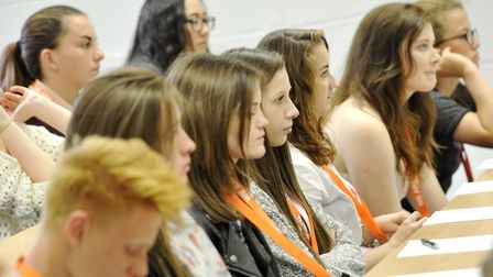 A Levels students get a taste of Philosophy from a lecturer as part of the Essex University Taster D