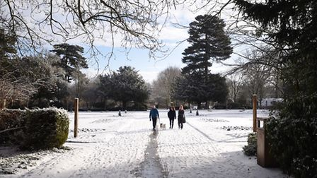 Bury St Edmunds after being hit by the Beast from the East in 2018. Picture: GREGG BROWN