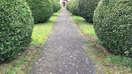 The path leading to the church in Lavenham Picture: STEVEN RUSSELL