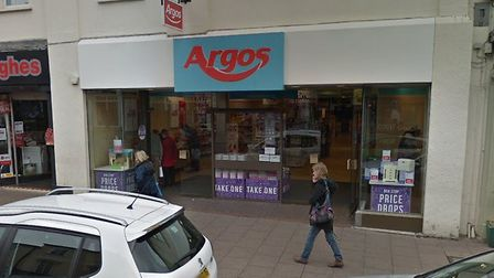 The former Argos store at 29 Buttermarket in Bury St Edmunds is set to be altered Picture: GOOGLE MA