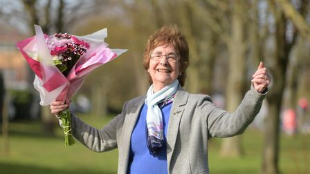 Mary Brown couldn't beleive it when she found out she won £1000 Picture: SARAH LUCY BROWN