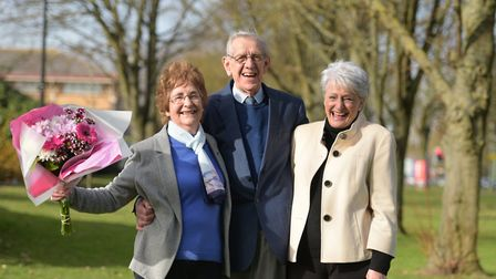 Mary Brown has won £1000. Mary celebrating with her husband Michael and Jane Brown from the East An