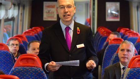 Jonathan Denby urged cyclists to book space for their bikes on Greater Anglia trains. Picture: NICK
