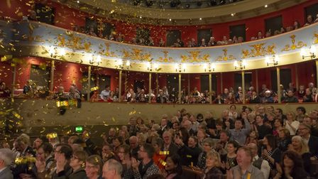 Theatre Royal audience enjoying the launch of the Bury Theatre Royal's 200th birthday celebrations.
