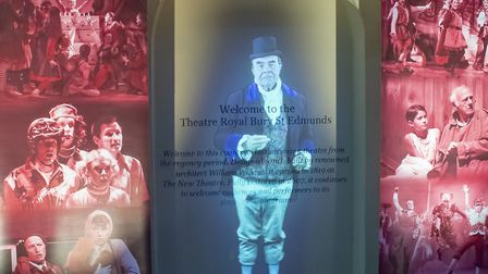 Stuart McLellan as the ghost of William Wilkins at the launch of the Bury Theatre Royal's 200th birt