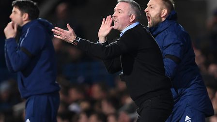 Paul Lambert was proud of his team after the Blues' 1-1 draw with Derby County. Picture: PA