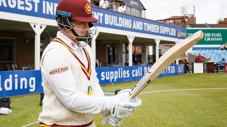 Ex-Framlingham pupil Rob Newton in action for Northants. Picture: ANDREW KEARNS